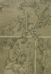 MUCHA  Alfons  ( 1860-1936): Figures Dekoratives.