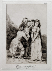 GOYA Francisco (1746-1828): Que sacrificio!.